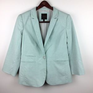 The Limited Green Blazer 3/4 Sleeves Size Medium